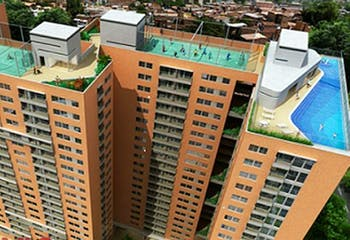 Los Árboles, Apartamento en venta en Niquia de 2 hab. con Zonas húmedas...