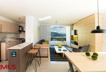 Apartamento en Calle Larga, Sabaneta, Rio Secreto, 3 habitaciones- 76m2.