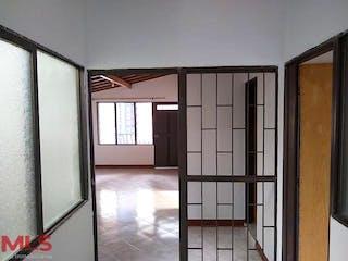 Una vista de un dormitorio con una puerta de cristal en No aplica