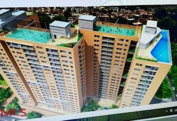 Apartamento en Bello Urbanización Los Arboles, con 2 habitaciones-55.75mt2