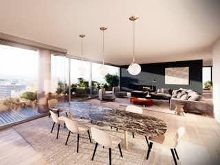 Una sala de estar con una mesa y sillas en Octava