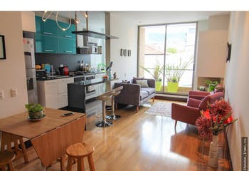 Apartamento en Chico Navarra, Santa Barbara - 60mt, una alcoba, balcón