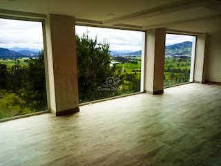 Una vista de una vista desde el interior de una casa en Casa campestre en Sopo, Cundinamarca - 260, tres alcobas