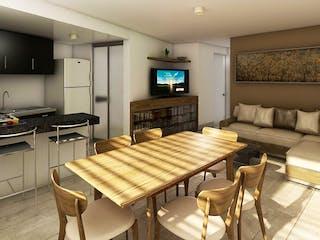 Una sala de estar llena de muebles y una televisión de pantalla plana en Elite Living La Viga