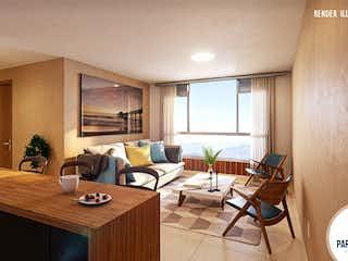 Una sala de estar llena de muebles y una mesa en Parque Alto