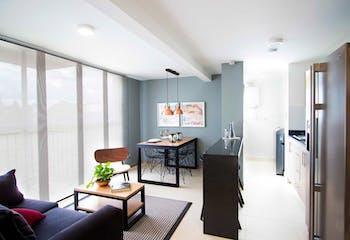 Apartamento en Rionegro, San Jose - 54mt, dos alcobas, balcon
