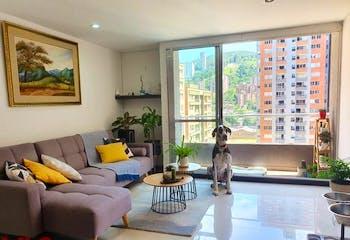 Apartamento en Ciudad del Rio, Poblado - 67mt, dos alcobas, balcon