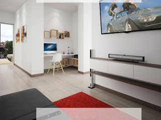 Una sala de estar llena de muebles y una televisión de pantalla plana en Habitat 118