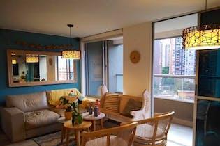 Apartamento en Loma de los Bernal, Belen - 84mt, tres alcobas, balcon