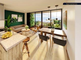Una sala de estar llena de muebles y una gran ventana en Retiro de Avigñon Apartamentos