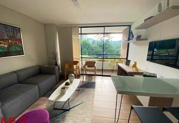 Apartamento en Loma del Escobero, Envigado - 53mt, dos alcobas, balcon