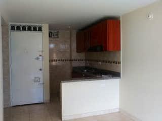 Un refrigerador congelador blanco sentado dentro de una cocina en Apartamento en Bosa Brasil-Bosa, con 3 Habitaciones - 46 mt2.