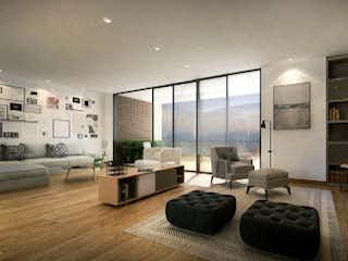 Una sala de estar llena de muebles y una chimenea en Apartamento en venta en  Las Palmas 3 habitaciones