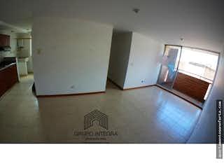 Una vista de una cocina desde el pasillo en Guaduales de la Paz