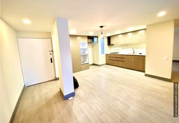 Apartamento en venta en Santa Barbara Central, 86mt con chimenea.