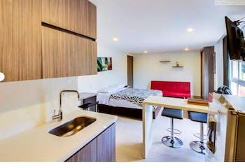Apartamento en venta en El Poblado de 1 habitacion
