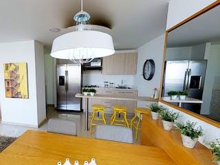 Una sala de estar llena de muebles y una televisión de pantalla plana en Camino del Viento