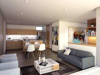 Una sala de estar llena de muebles y una televisión de pantalla plana en Palermo