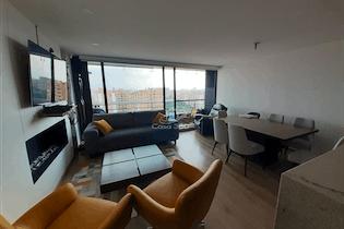 Apartamento en venta en Colina Campestre de 101 mts con chimenea