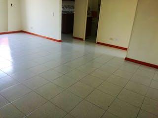Un cuarto de baño con suelo de baldosa y un aseo en Apartaestudio en Venta Prado, Con 3 habitaciones-43mt2