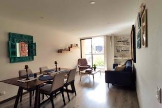 Apartamento en venta en Santa Bárbara Central, 74mt con chimenea