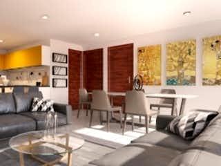 Una sala de estar llena de muebles y una gran ventana en Departamento en venta Janitzio de 71mt2