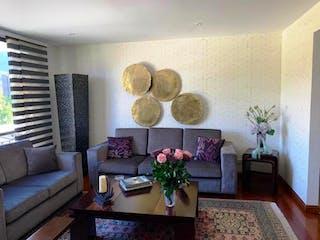 Una sala de estar llena de muebles y una planta en maceta en Apartamento En Venta En Bogota Chico Navarra, Con 2 habitaciones-125mt2