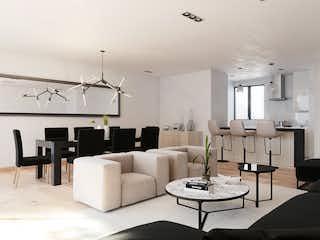 Una sala de estar llena de muebles y una lámpara de araña en Providencia 707
