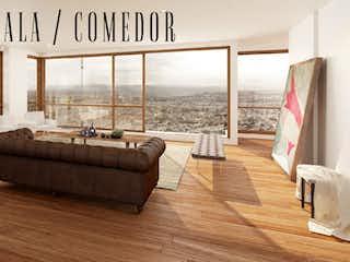 Una sala de estar llena de muebles y suelos de madera en El Peñasco