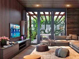 Una sala de estar llena de muebles y una gran ventana en Iztaccihuatl 36