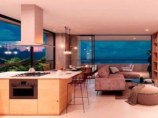 Una sala de estar llena de muebles y una televisión de pantalla plana en Tierra Grata Bosque Santo