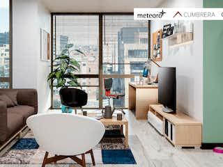 Una sala de estar llena de muebles y una televisión de pantalla plana en Casa Chicó
