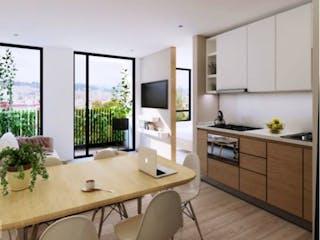 Una cocina con un fregadero y una estufa en Nuvo Park 135