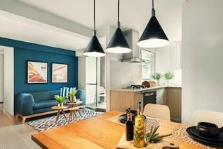 Apartamento en venta en Loma de los Bernal, 60mt con balcon.