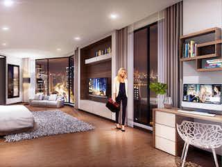 Una sala de estar llena de muebles y una televisión de pantalla plana en Neos Nogal