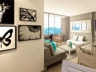 Una sala de estar llena de muebles y una televisión de pantalla plana en Ventus