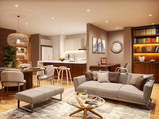Una sala de estar llena de muebles y una mesa en Portal 17