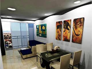 Una sala de estar llena de muebles y una pintura en Apartamento en venta en Palermo de dos alcobas