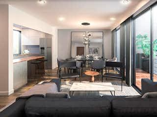 Una sala de estar llena de muebles y una chimenea en Providencia 828