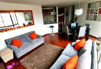 Apartamento En Venta En Caobos Salazar, de 100mtrs2 con chimenea