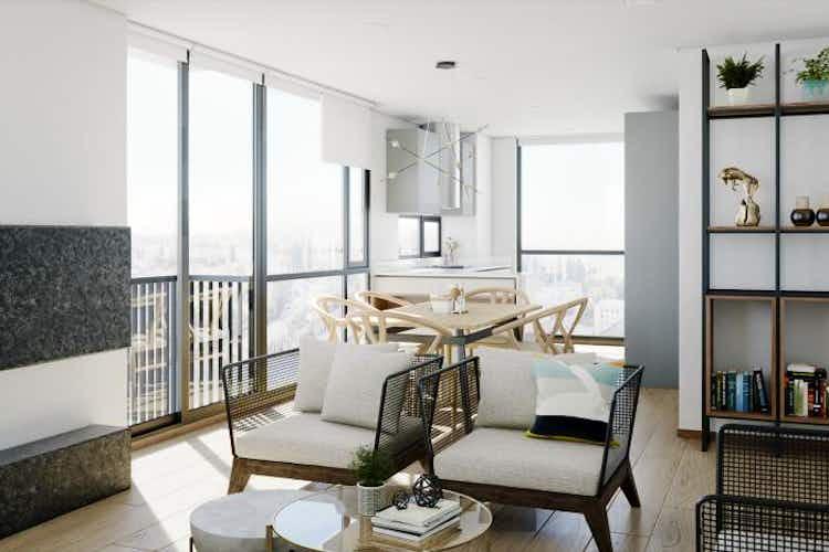 Portada Apartamento en venta en Chicó Navarra de 59,07 mt con chimenea