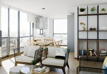 Apartamento en venta en Chicó Navarra de 150,27 mt con chimenea