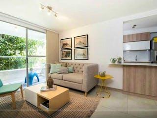 Una sala de estar llena de muebles y una ventana en Apartamento en venta en San José de 67,7mtrs2