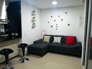 Una sala de estar llena de muebles y una ventana en Apartamento en venta en Calasanz de 53 mt con balcón