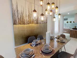 Un comedor con una mesa y sillas en Argos Residencial