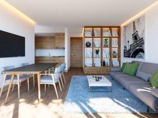 Una sala de estar llena de muebles y una televisión de pantalla plana en Único Roma