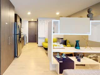 Un cuarto de baño con lavabo y un espejo en Urbano 48