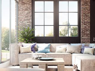 Una sala de estar llena de muebles y una ventana en Inglaterra 48