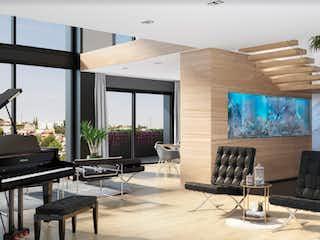 Una sala de estar llena de muebles y una gran ventana en Economía 17