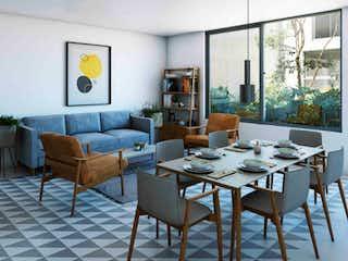 Una sala de estar llena de muebles y una ventana en Calle Charco Azul 46